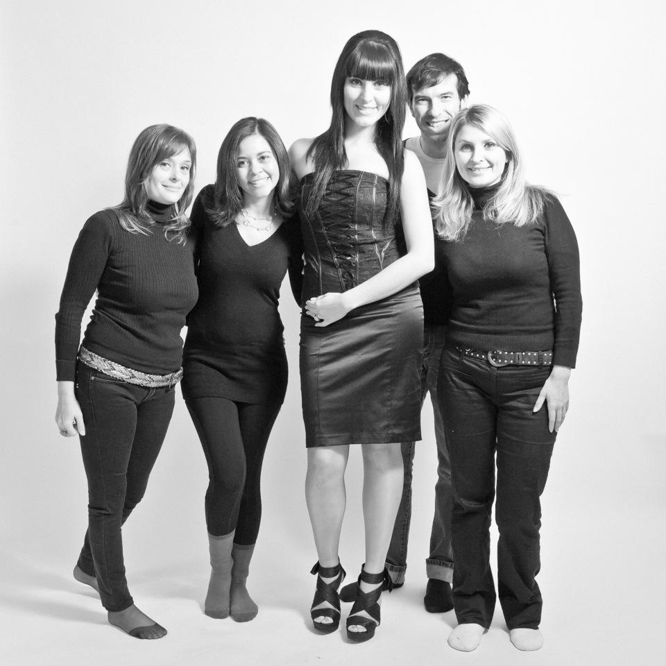 El equipo en el Estudio Fotografico